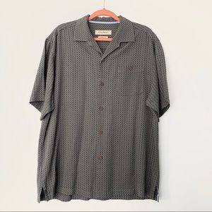 Tommy Bahama Silk Short Sleeve Casual Button Down